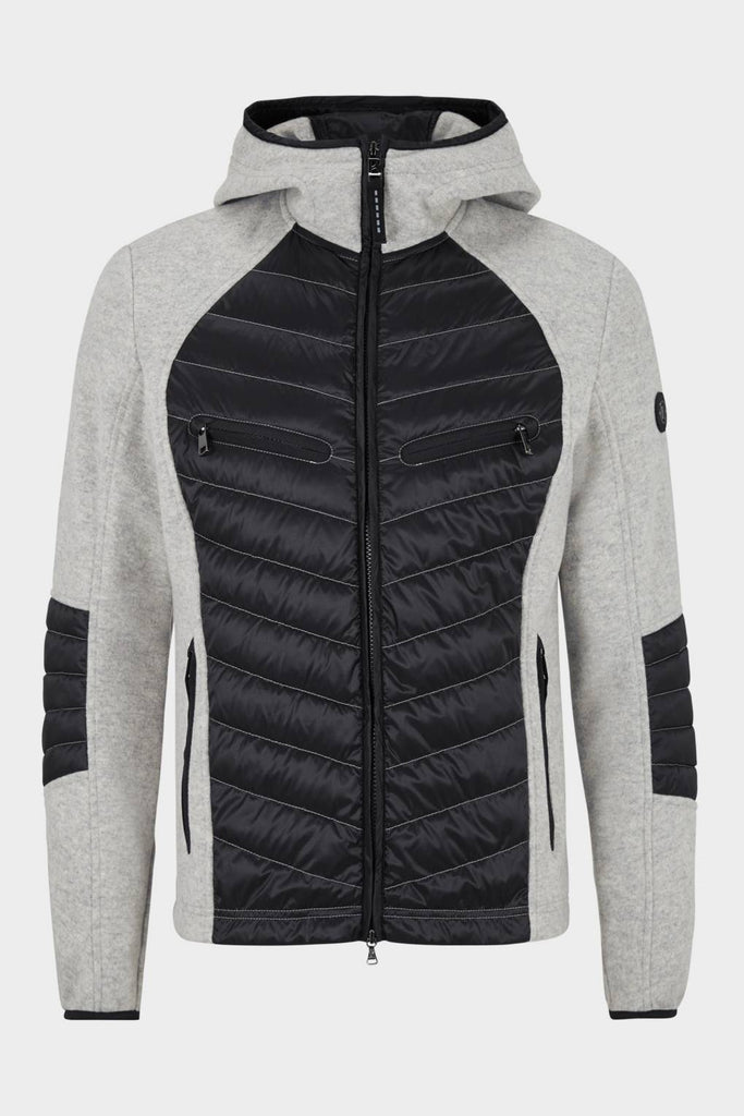 Bogner Matys Hybrid Goose Down Jacket in Grey 40% OFF ON SALE! - Saratoga Saddlery & International Boutiques