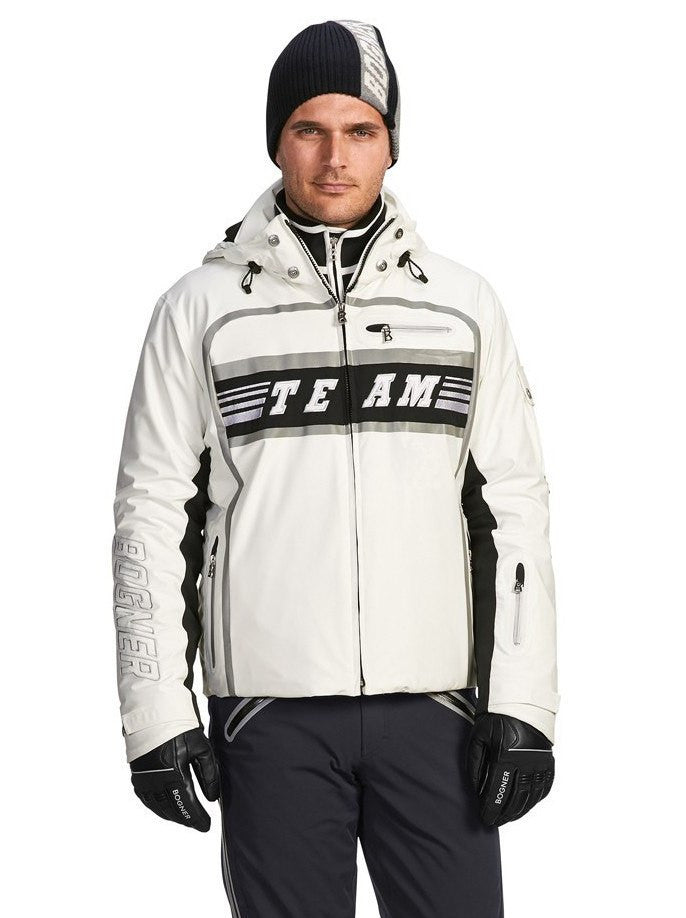 Bogner Men's Team Ricky Ski Jacket in White