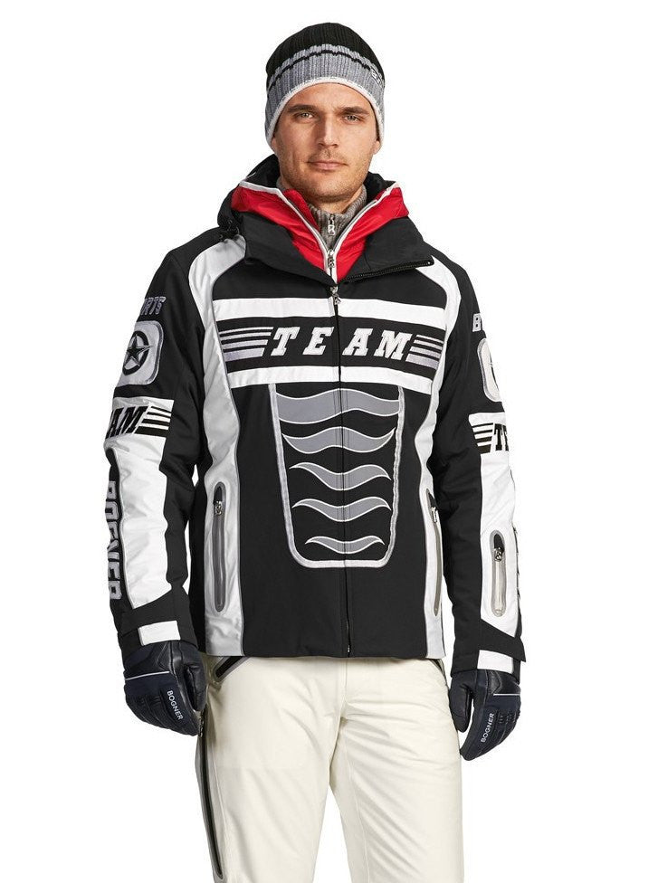 Bogner Men's Breeze Team Ski Jacket in Black - LAST ONE! FINAL SALE