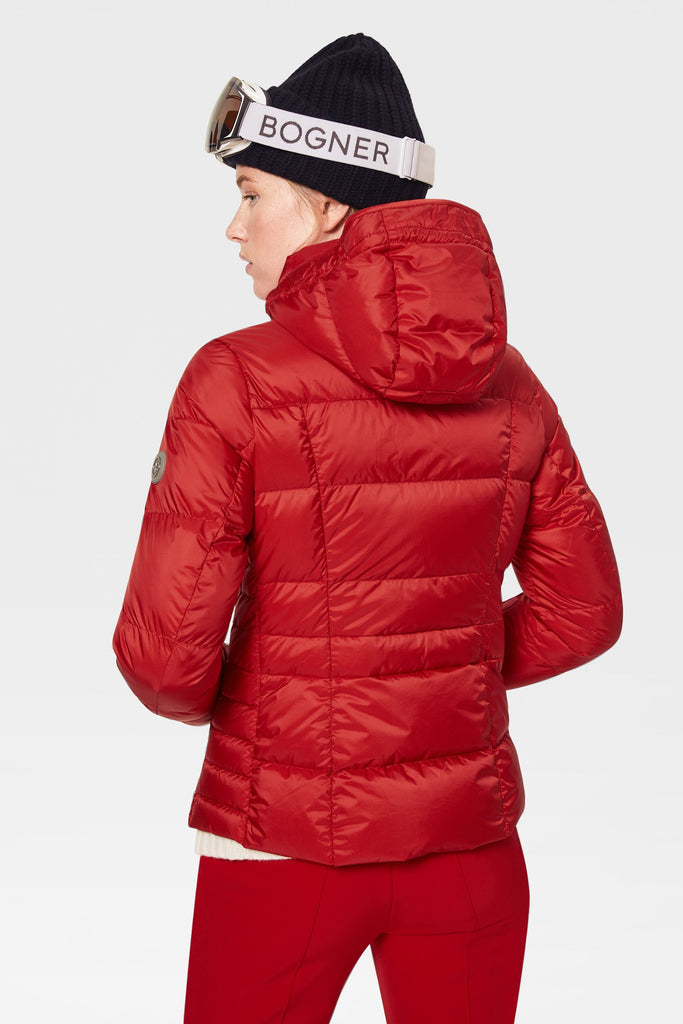 Bogner Sanne Womens Down Winter Jacket in Red - Saratoga Saddlery & International Boutiques