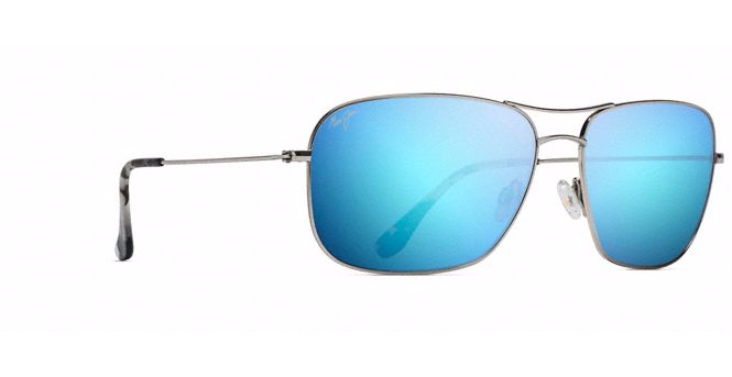 Maui Jim Breezeway Sunglasses in Silver with Blue Hawaii Lens - Saratoga Saddlery & International Boutiques