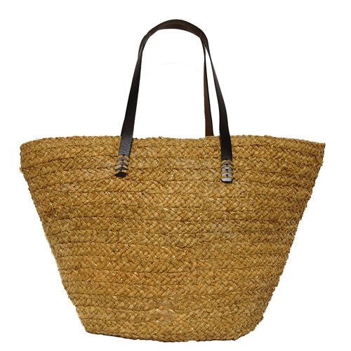Buji Baja Metallic Raffia Braid Tote - Saratoga Saddlery