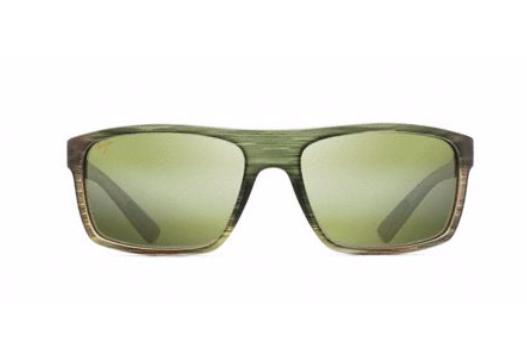 Maui Jim Byron Bay Sunglasses in Matte Green Stripe Rubber with HT Maui Lens - Saratoga Saddlery & International Boutiques