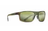 Maui Jim Byron Bay Sunglasses in Matte Green Stripe Rubber with HT Maui Lens
