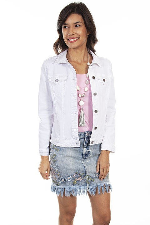 Scully Denim Jacket HC598 in white front