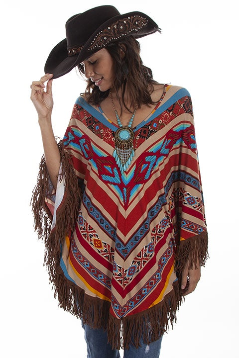 Scully HC518 Serape Poncho