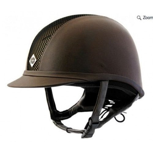 Charles Owen AYR8 Leather Look Helmet - Saratoga Saddlery