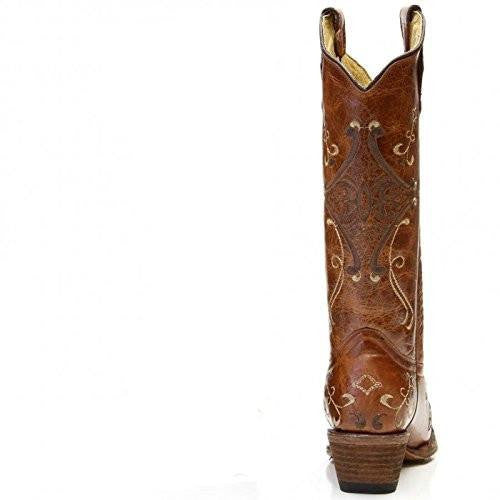 Corral Circle G L5063 Cognac Brown Embroidery - Saratoga Saddlery