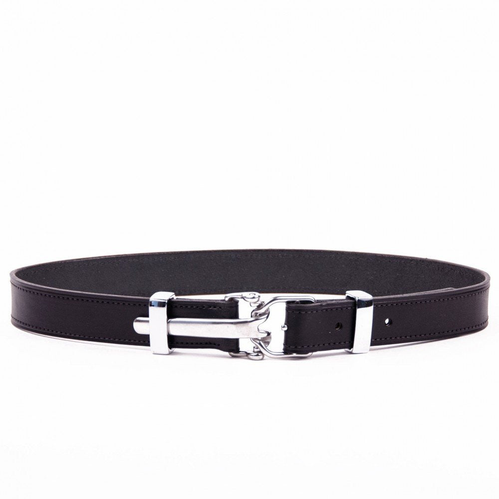 Clever with Leather Harness Release Belt - Black - Saratoga Saddlery