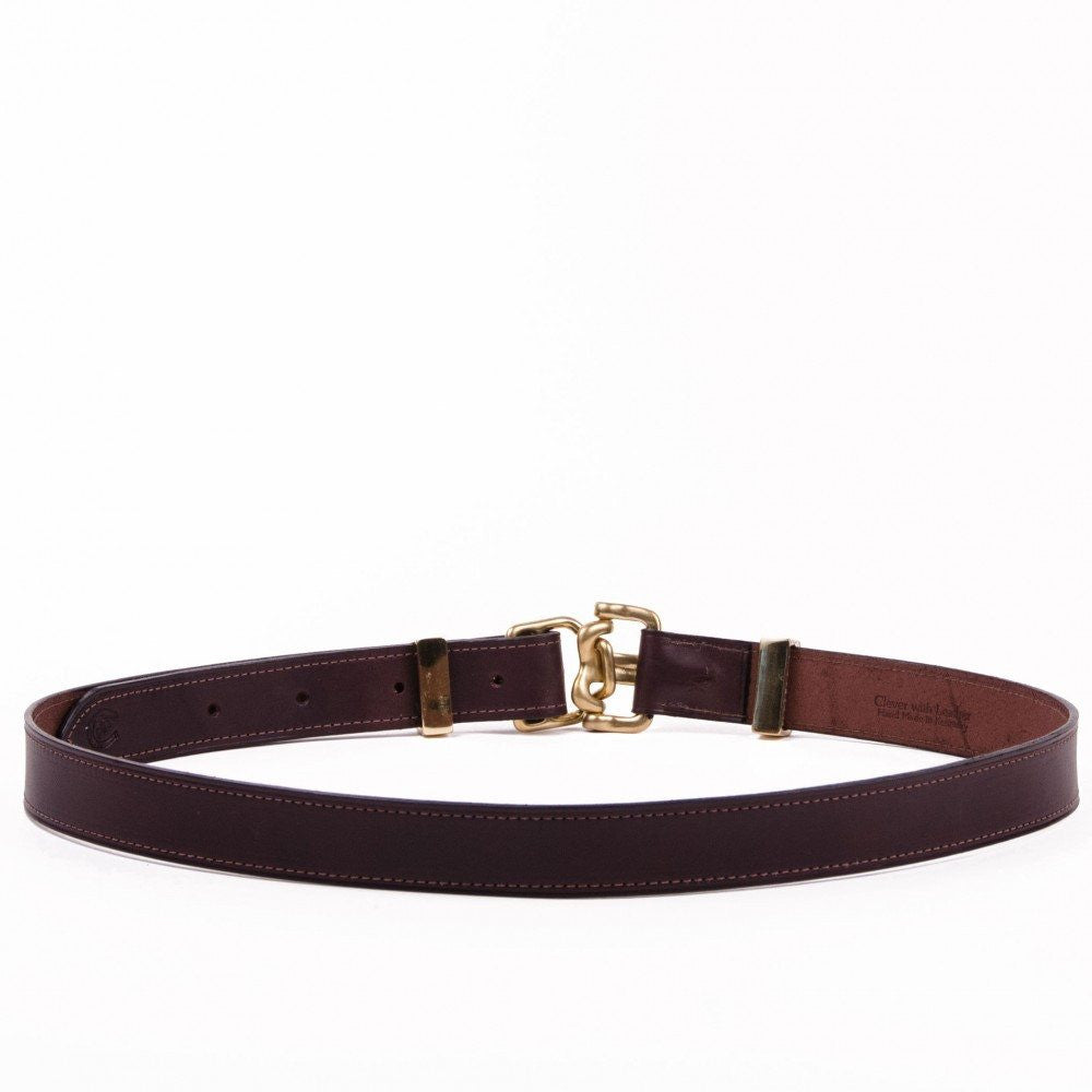 Clever with Leather Harness Release Belt - Dark Brown - Saratoga Saddlery