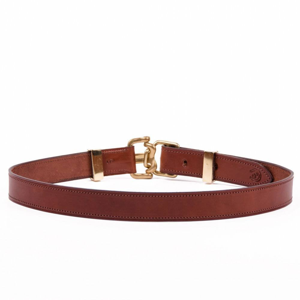 Clever with Leather Harness Release Belt - Medium Brown - Saratoga Saddlery