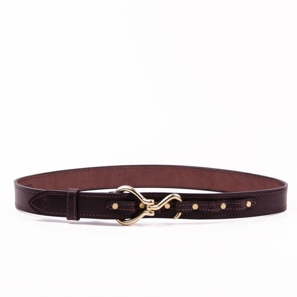 Clever with Leather Hoofpick Belt - Dark Brown - Saratoga Saddlery