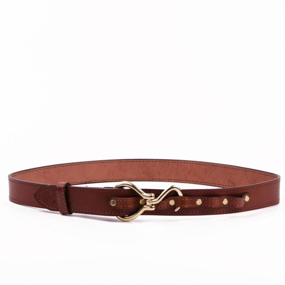 Clever with Leather Hoofpick Belt - Medium Brown - Saratoga Saddlery