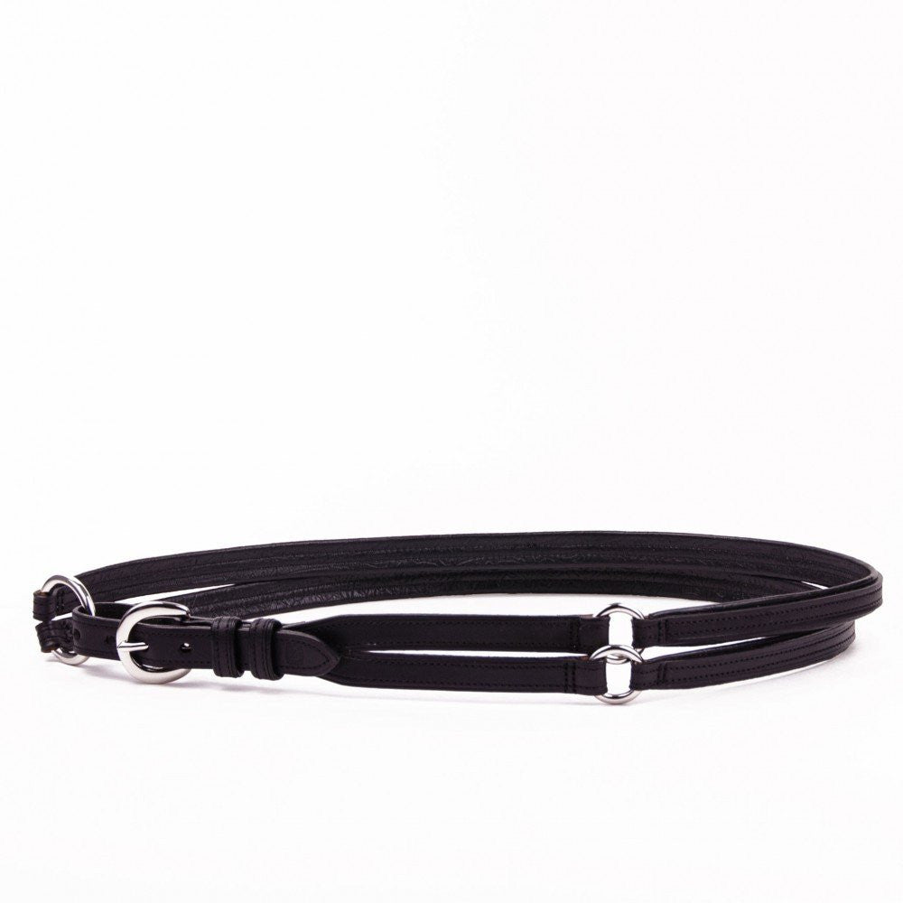 Clever with Leather Martingale Belt - Black - Saratoga Saddlery