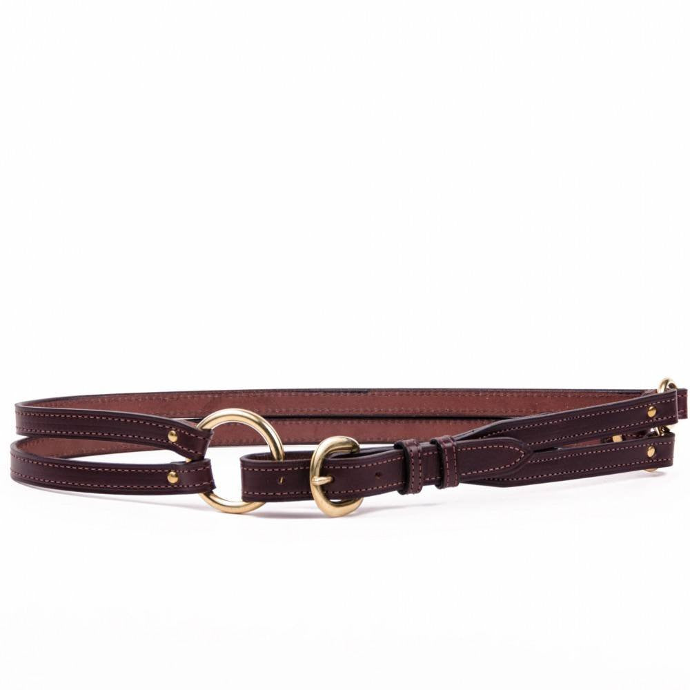 Clever with Leather Martingale Belt - Dark Brown - Saratoga Saddlery