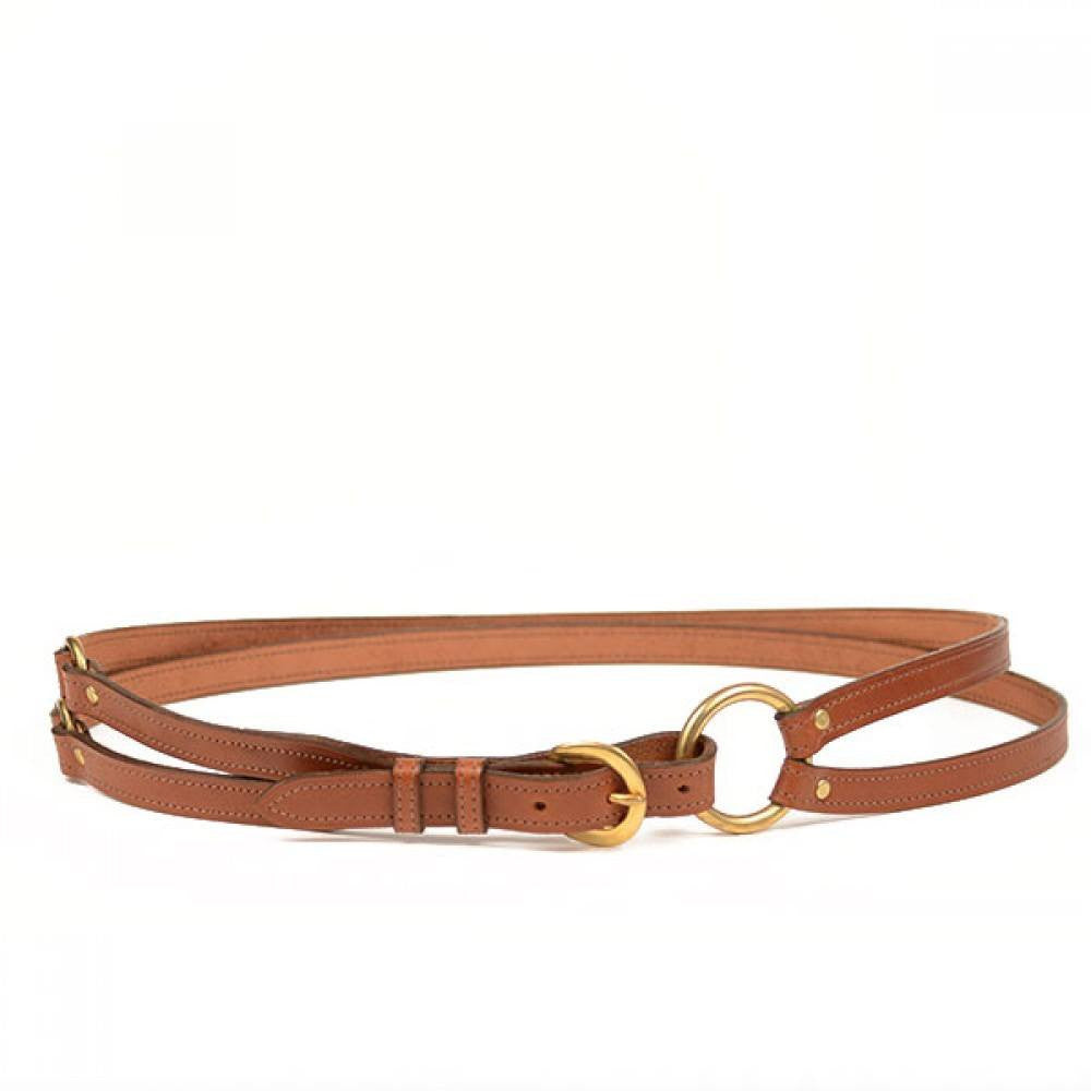 Clever with Leather Martingale Belt - Medium Brown - Saratoga Saddlery
