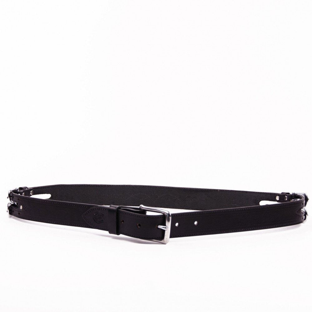 Clever with Leather Show Barn Belt - Black - Saratoga Saddlery