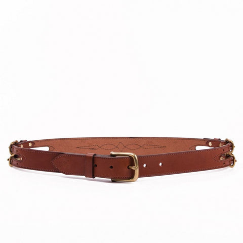 Clever with Leather Show Barn Belt - Black
