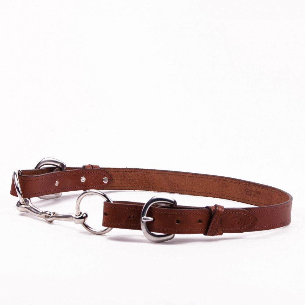 Clever with Leather Snaffle Bit Belt - Medium Brown - Saratoga Saddlery