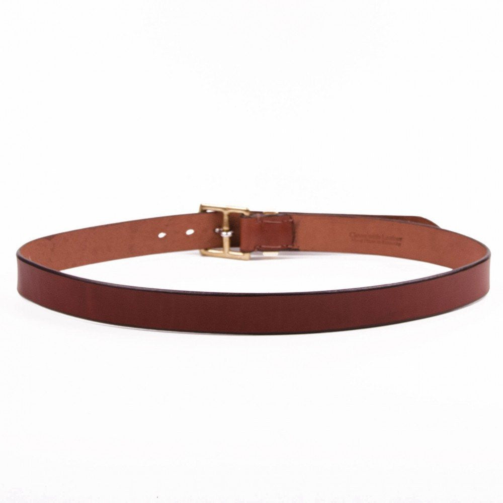 Clever with Leather Stirrup Belt - Medium Brown