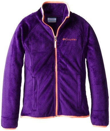 Columbia Girls' Pearl Plush Full Zip Jacket Purple - Saratoga Saddlery
