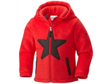 Columbia Kids' Star Bright Fleece Full Zip Hoodie Jacket Bright Red - Saratoga Saddlery