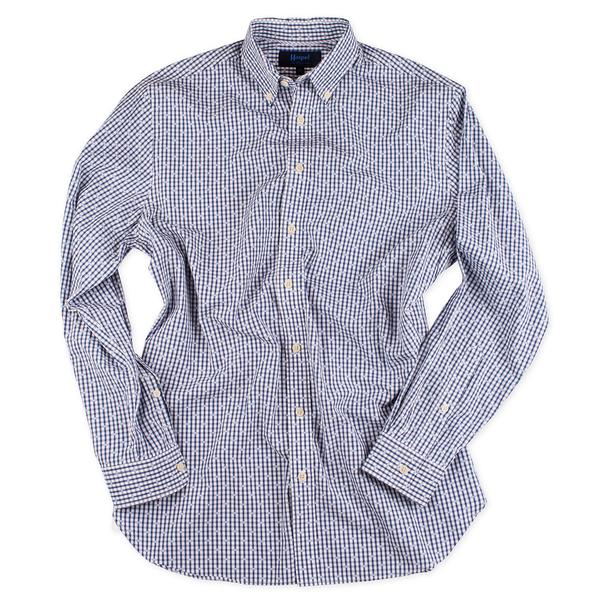 Haspel Conery Dress Shirt in Navy Gingham Coupe