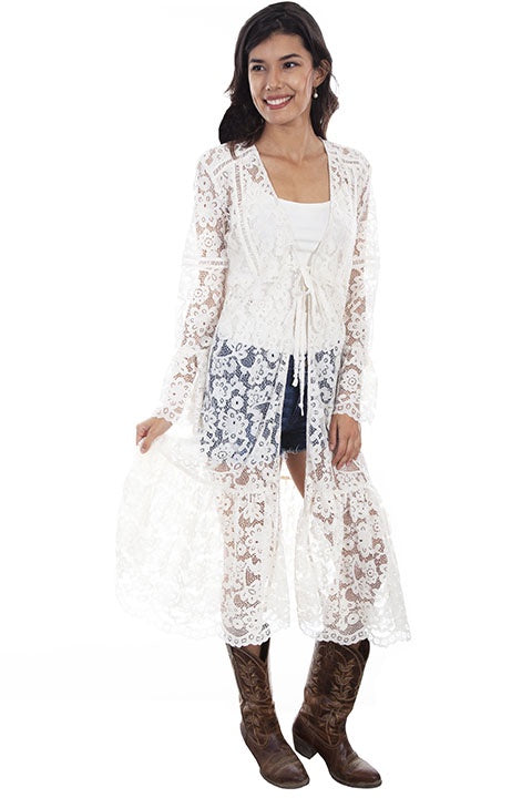 Scully HC575 Lace Flare Sleeve Duster - Saratoga Saddlery & International Boutiques