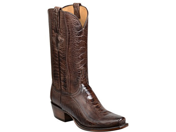 Lucchese Men's Anderson Ostrich Legs Boot GY1027 - Chocolate