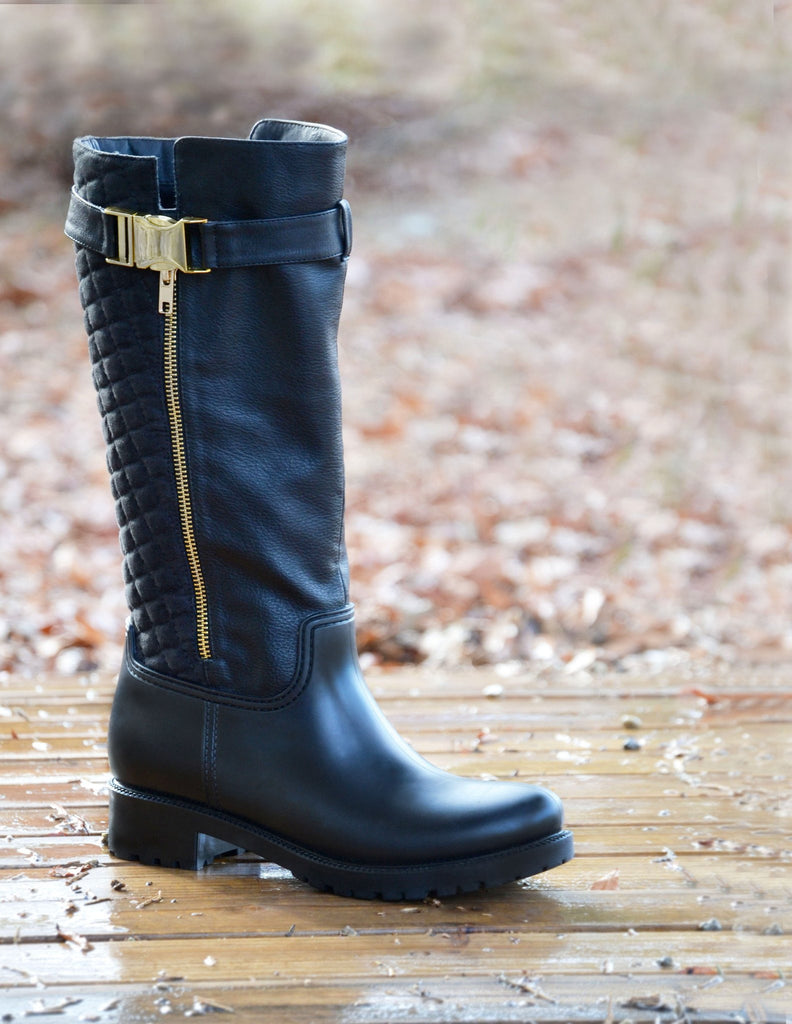 Dav Holloway Rainboots Black - Saratoga Saddlery