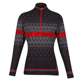 Krimson Klover Let It Snow Top Black/Red - Saratoga Saddlery & International Boutiques