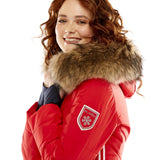 M. Miller Joya Stretch Primaloft Jacket with Natural Finn Racoon Red Microtech ON SALE - Saratoga Saddlery & International Boutiques