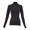 Krimson Klover Aran Cable 1/4 Zip Top in Black ON SALE! - Saratoga Saddlery & International Boutiques