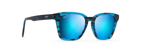 Maui Jim Cinder Cone Sunglasses in Satin Dark Gunmetal with Blue Hawaii Lens