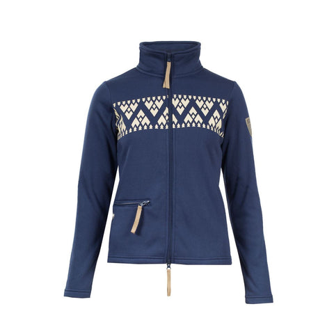 B Vertigo Women's BVX Sussex Competition & Training Turtleneck in White/Navy