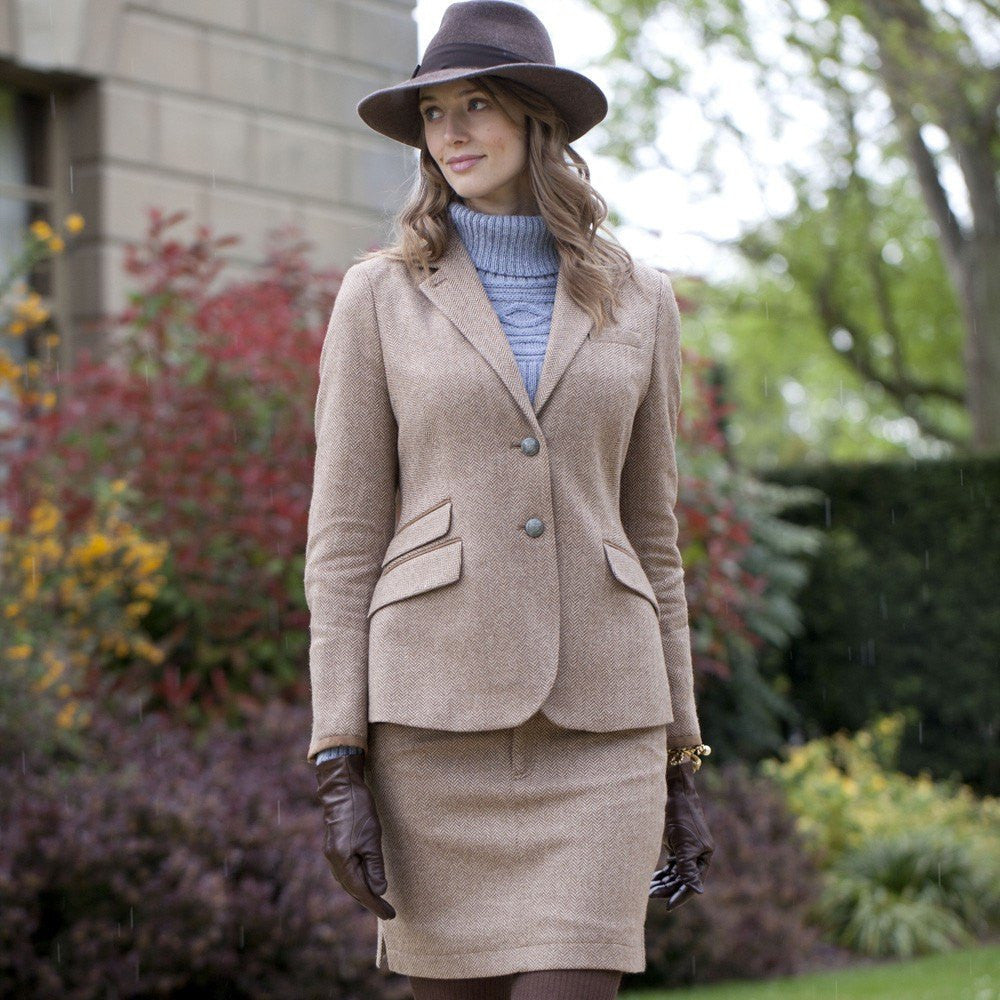 Dubarry Camel Birch Tweed Jacket - Saratoga Saddlery