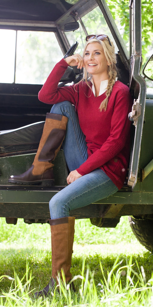 Dubarry Women's Flaherty Sweater in Crimson - Saratoga Saddlery