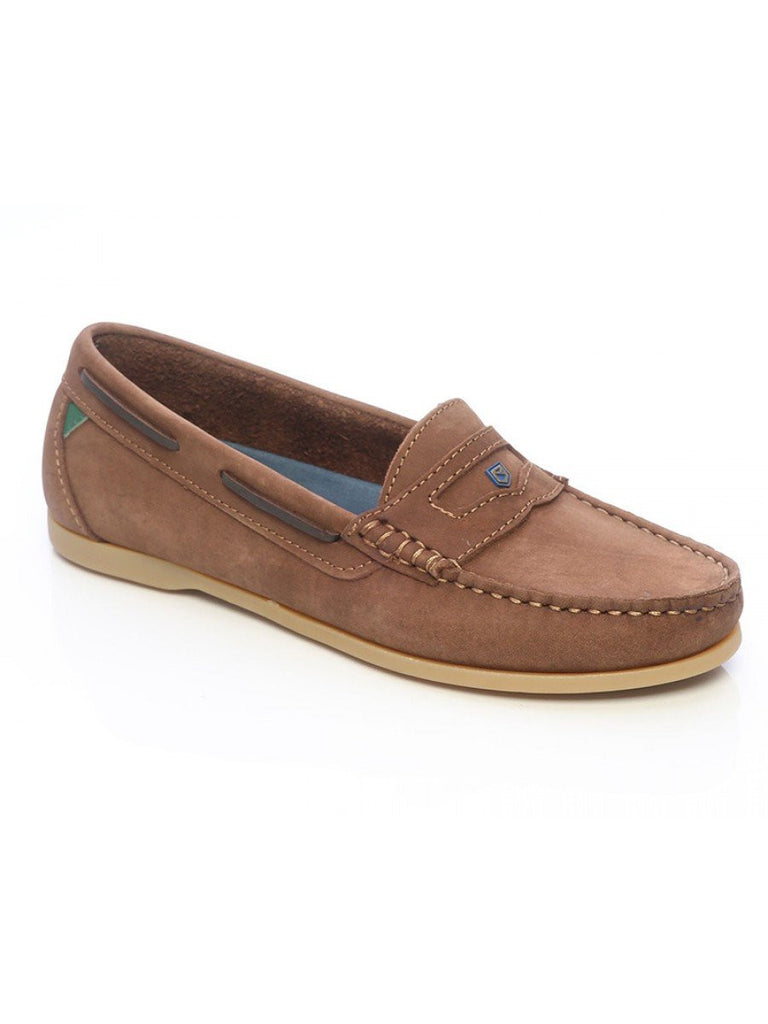 Dubarry Women's Menorca Boat Shoes in Cafe Brown - Saratoga Saddlery