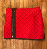 M. Miller Lila Insulated Quilted Skirt With Alpine Details Red Microtech SKT3 50% OFF ON SALE! - Saratoga Saddlery & International Boutiques
