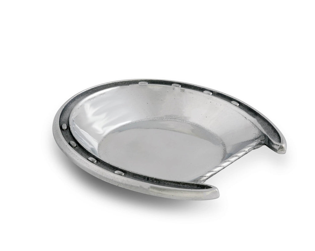 Arthur Court Small Single Horseshoe Snack Bowl
