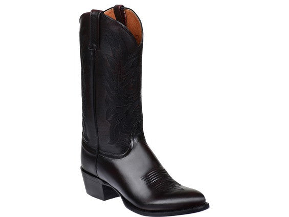 e59d9f66a87 Lucchese Men's Carson Calf Leather Boot in Black Cherry M1021