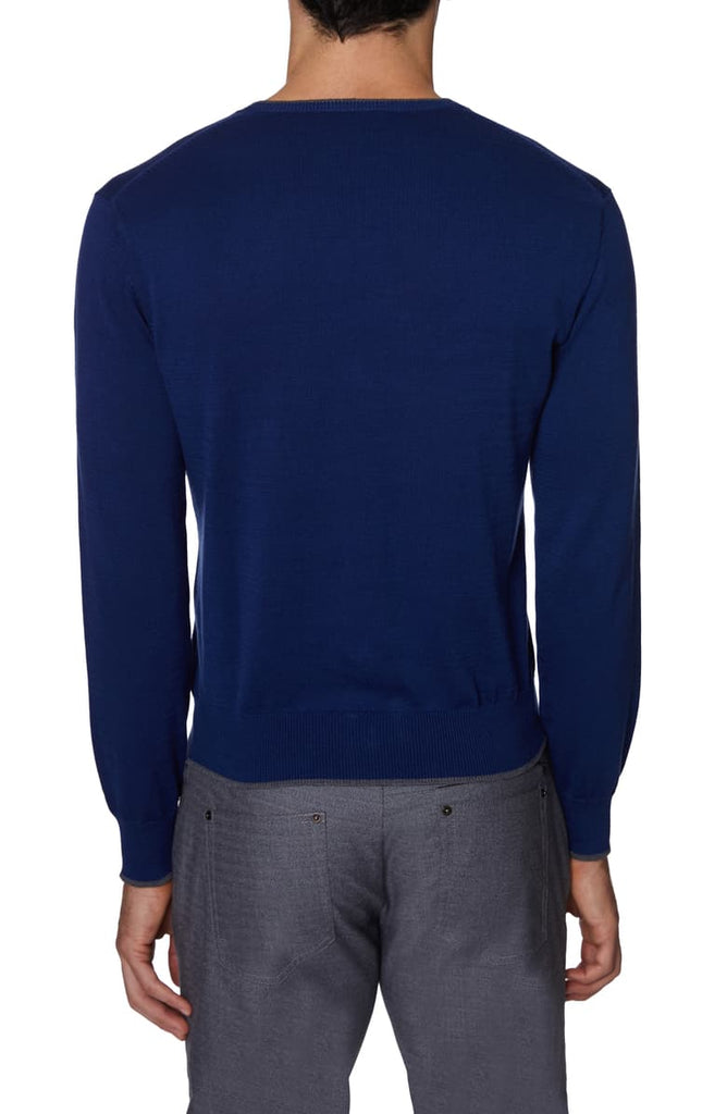 Hickey Freeman LS V-Neck Sweater GH7200NS - Saratoga Saddlery & International Boutiques