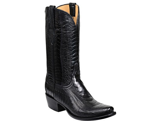 41ae2864522d Lucchese Men's Anderson Ostrich Legs Boot GY1025 - Black – Saratoga ...