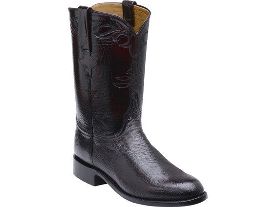 Lucchese Men's Ward Ostrich Roper GY3001 - Black Cherry