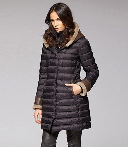 Womens Long Down Coat With Hood Jacketin