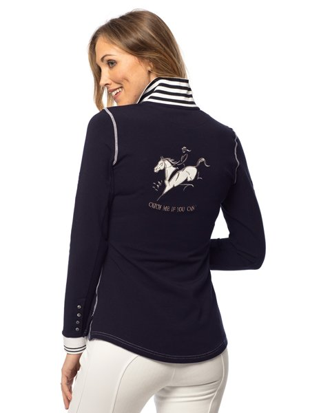 Goode Rider Champion Polo Navy - Saratoga Saddlery & International Boutiques