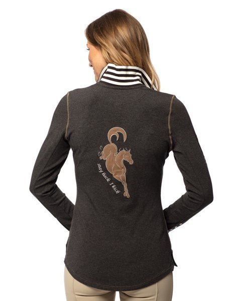 Goode Rider Champion Polo Charcoal Heather - Saratoga Saddlery & International Boutiques