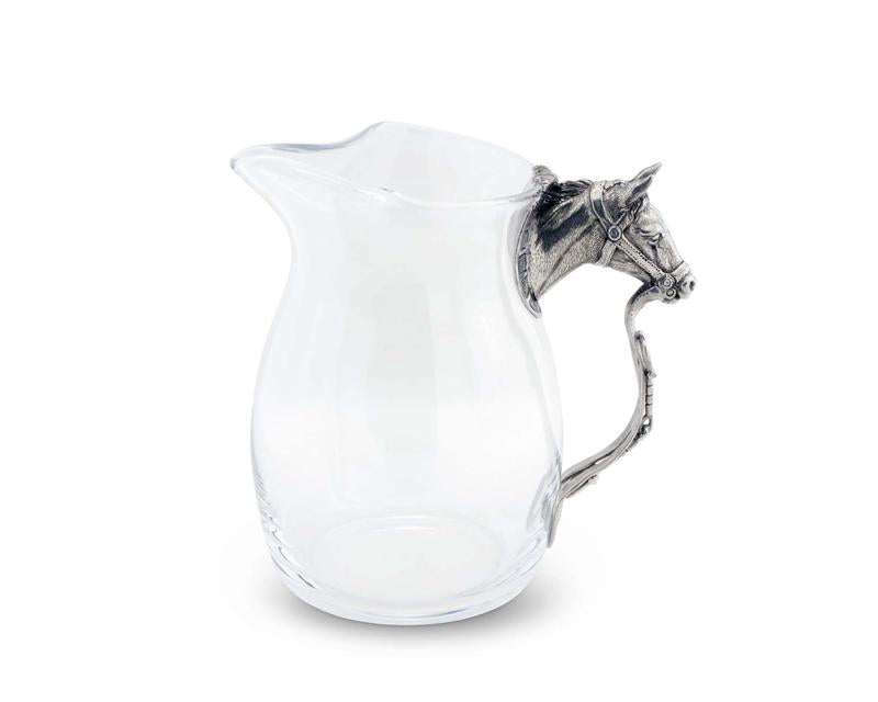 Vagabond House Horse Head Glass Pitcher H457HH - Saratoga Saddlery & International Boutiques