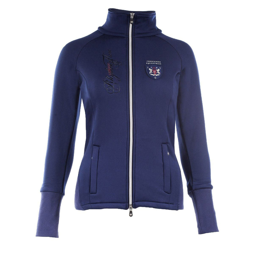 Horze Crescendo Ava Women's Fleece Jacket in Dark Blue - Saratoga Saddlery