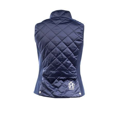 Horze Crescendo Eleanor Women's Quilted Vest in Navy - Saratoga Saddlery